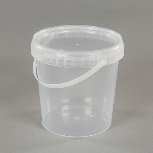 1L Clear Plastic Food Grade Bucket With Lid