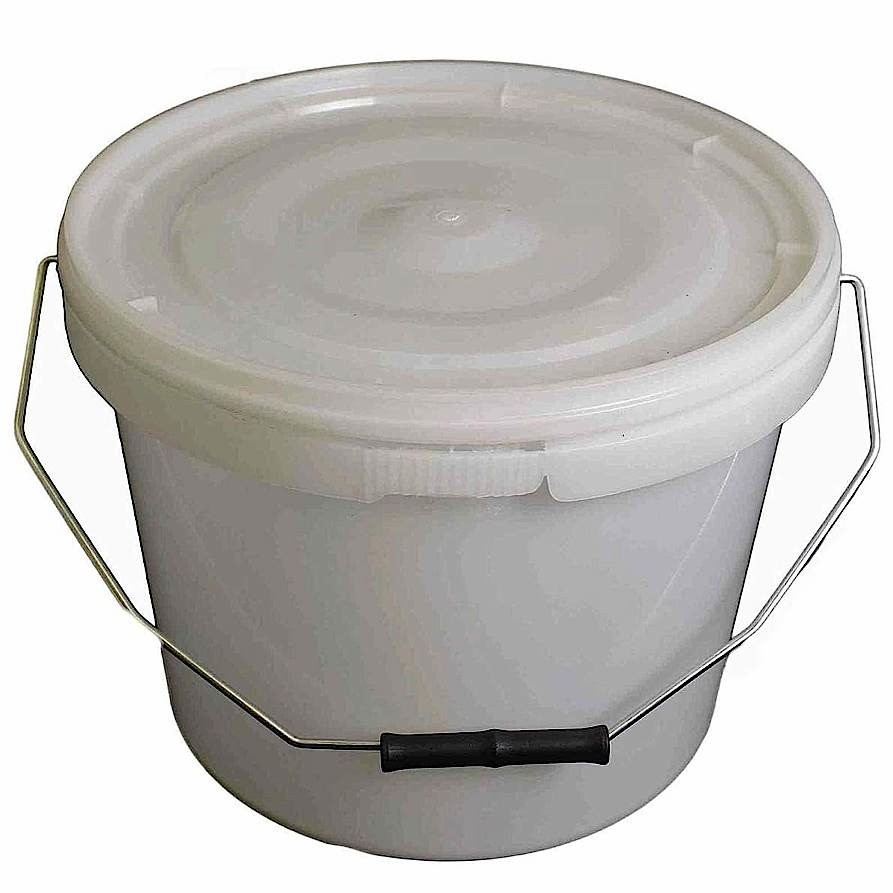 10L Tamper Evident Natural Plastic Buckets With Lid