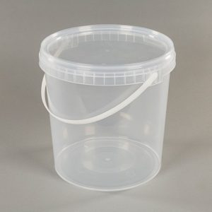 Large transparent food pot