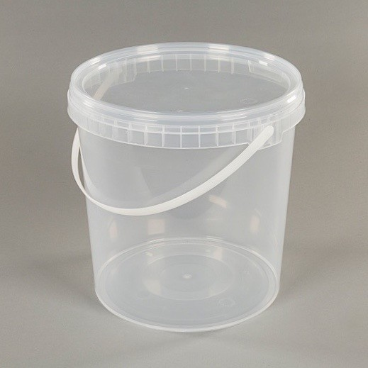 10l Clear Plastic Food Grade Bucket With Lid