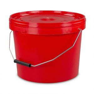 ten litre tamper evident red bucket