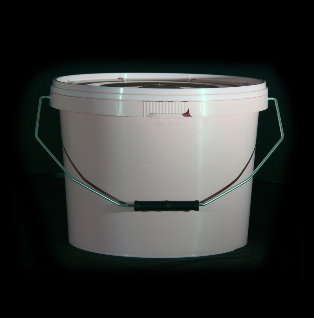 10L Tamper Evident Pink Plastic Buckets With Lid