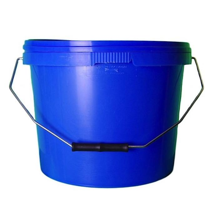 10L Tamper Evident Blue Plastic Buckets With Lid