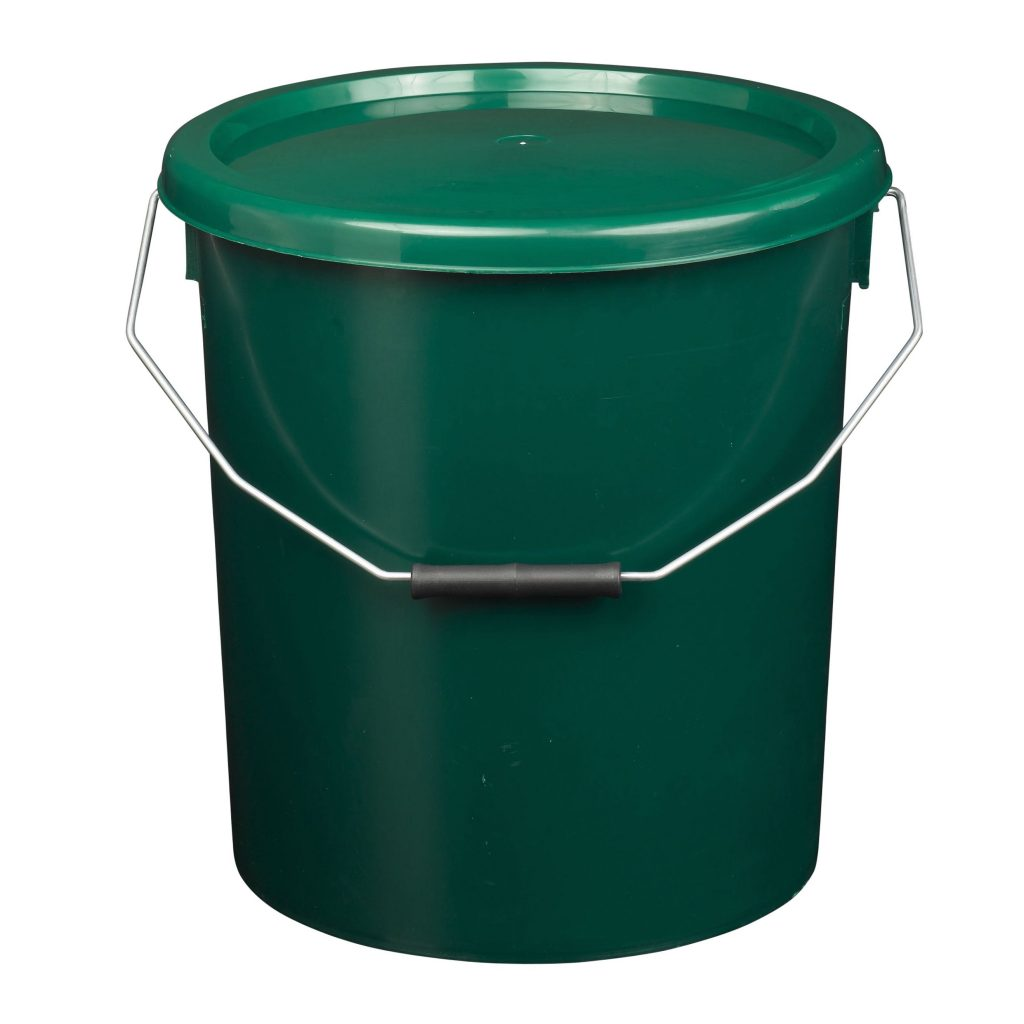 16L Green Plastic Buckets With Lid