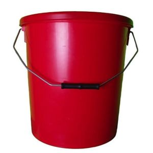 16 Litre Red Plastic Bucket