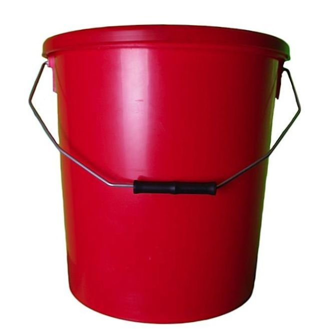 16L Red Plastic Buckets With Lid