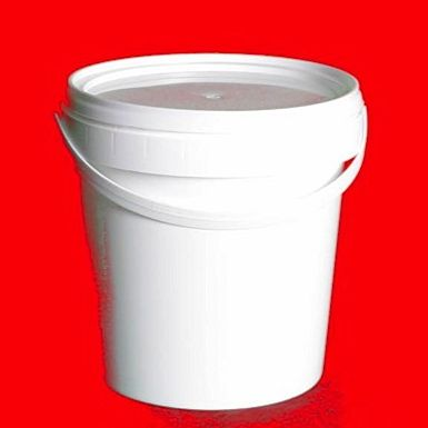 1L White Lightweight Plastic Buckets With Lid