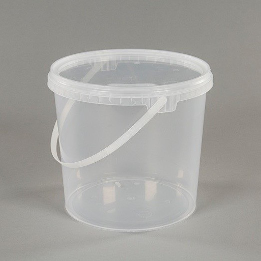 2.5L Clear Plastic Food Grade Bucket With Lid