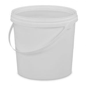 2.5 litre tamper evident white bucket