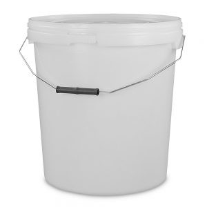 twenty litre white bucket