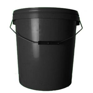 20l black bucket with handle and lid