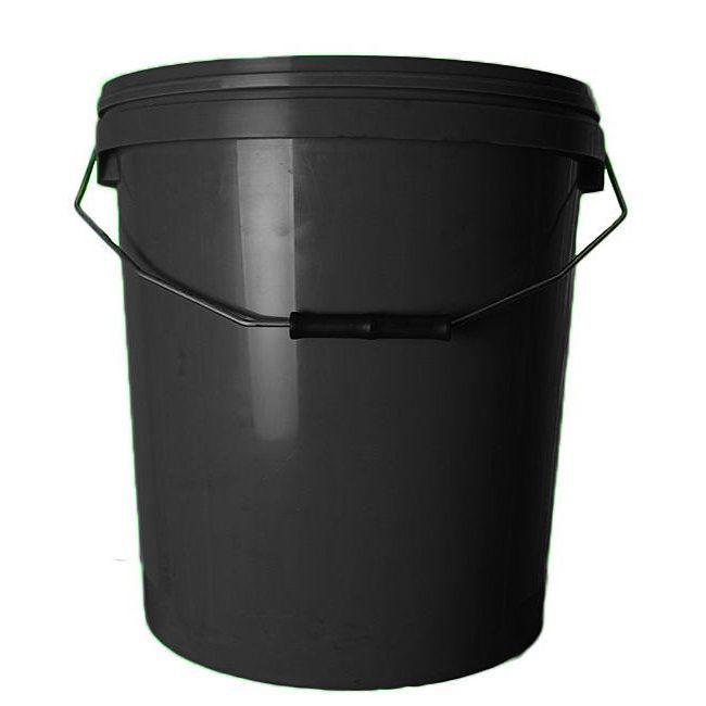 20L Black Plastic Buckets With Lid