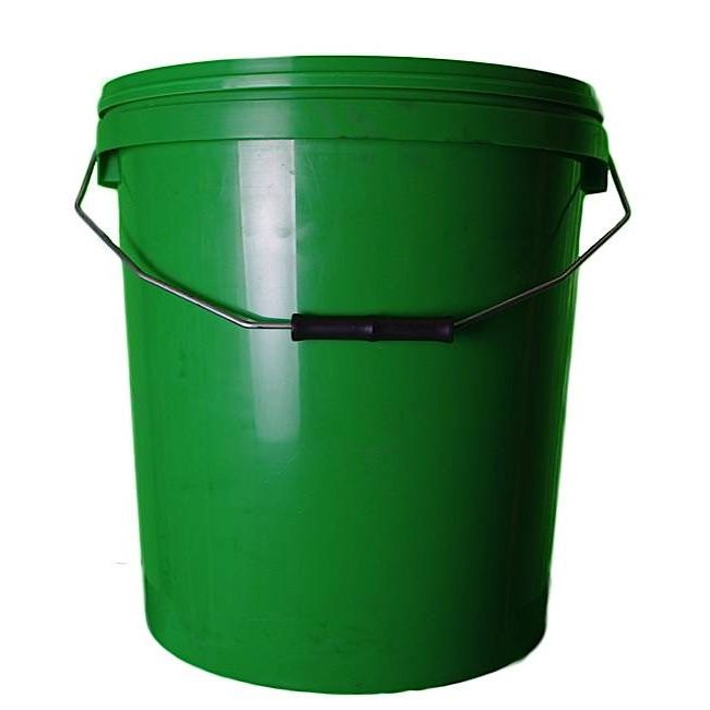 20L Green Plastic Buckets With Lid