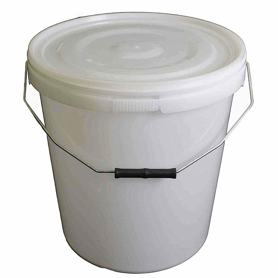 20L Natural Plastic Buckets With Lid