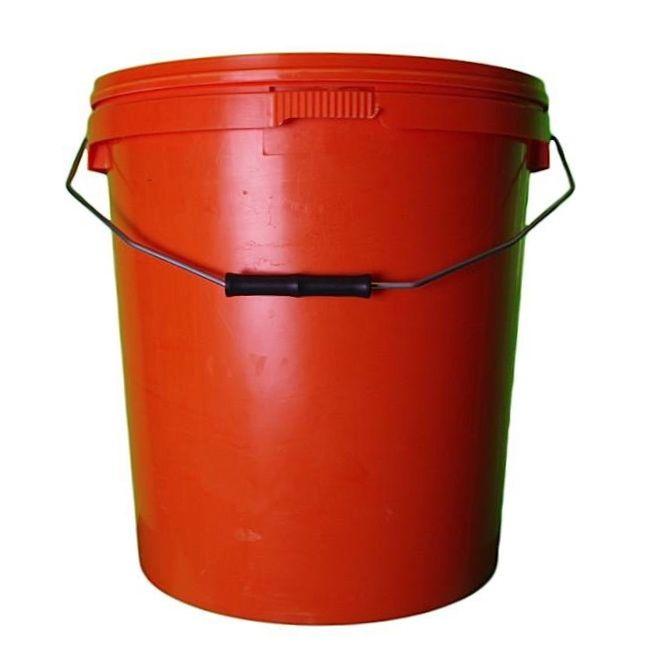 20L Orange Plastic Buckets With Lid