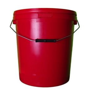 20 Litre Red Plastic Buckets