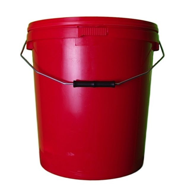 20L Red Plastic Buckets With Lid