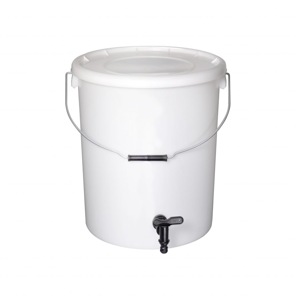 25L Natural Buckets with Tap And Lid