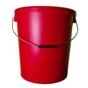25 Litre Red Plastic Buckets