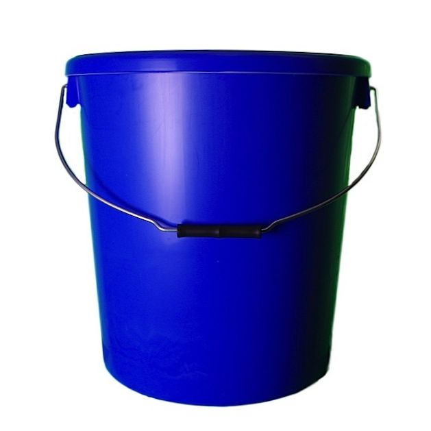 25L Blue Plastic Buckets With Lid
