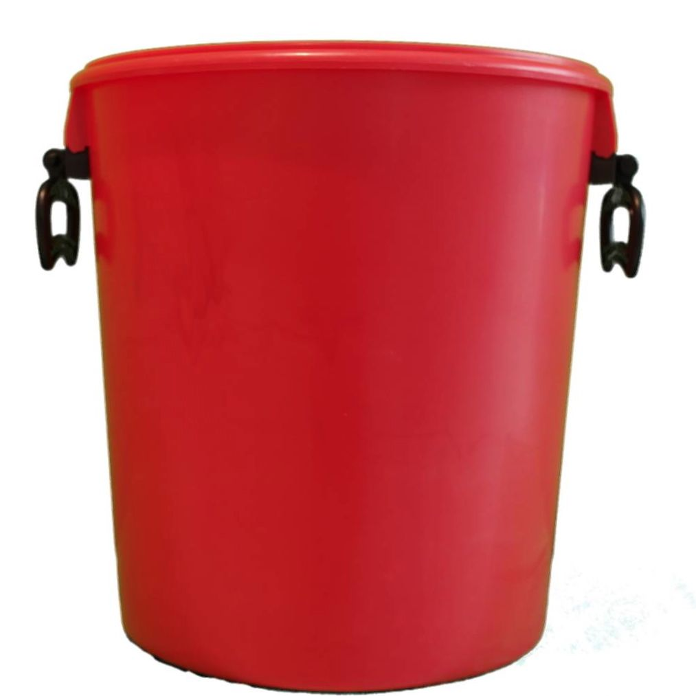 25L Red Bucket With Two Handles And Lid