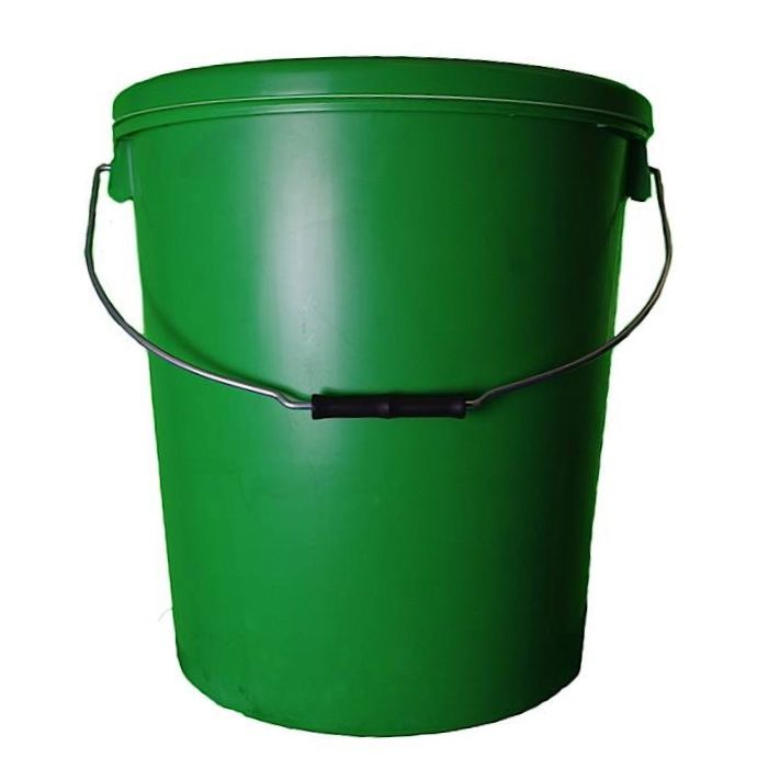 25L Green Plastic Buckets With Lid