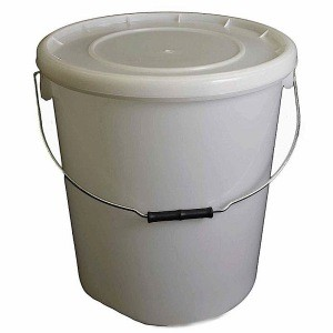 25 Litre Natural Plastic Buckets