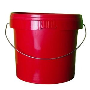 5 Litre Red Plastic Bucket