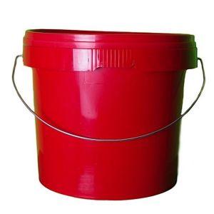 5 Litre Red Plastic Bucket