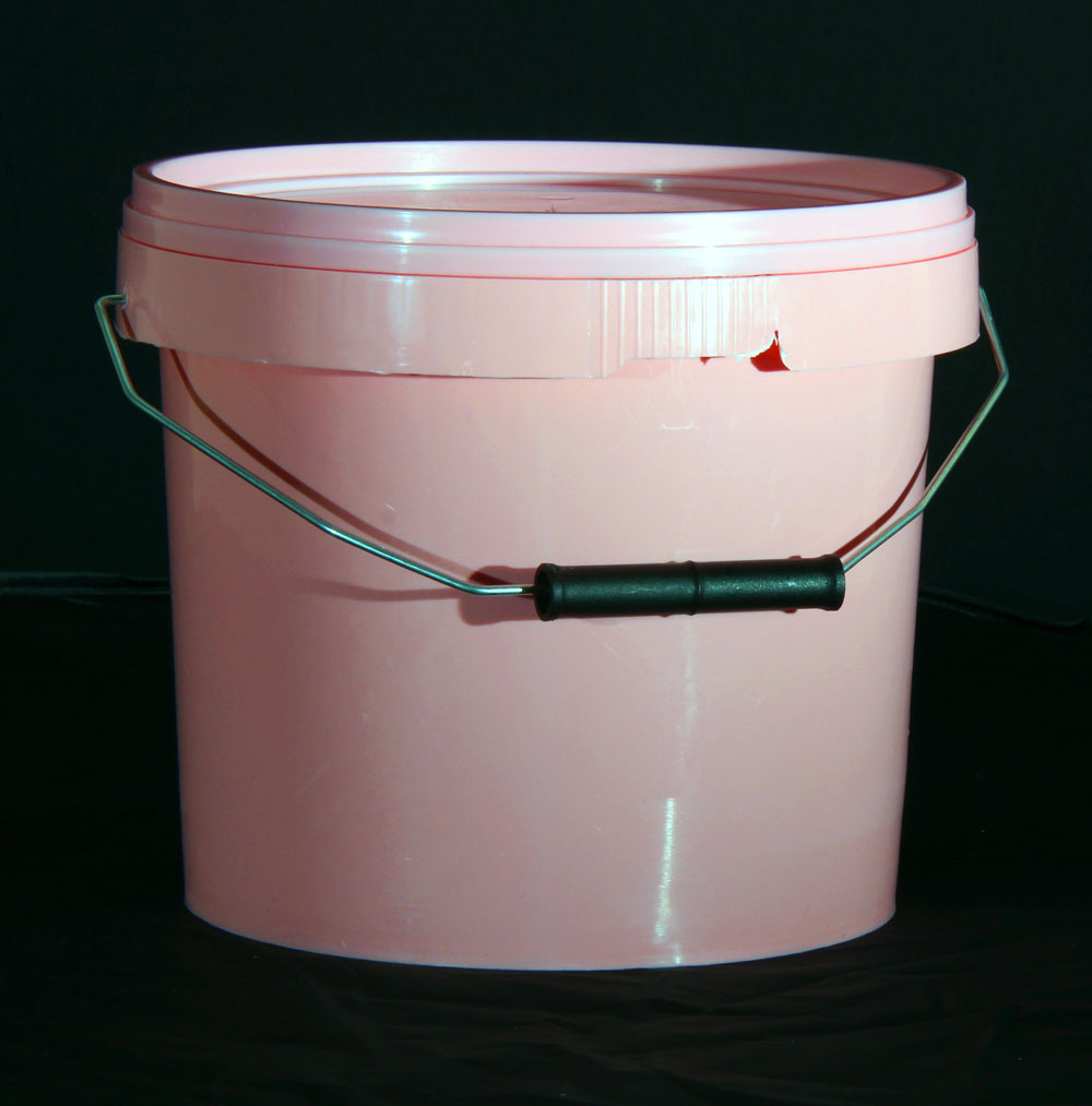 5L Pink Plastic Buckets With Lid