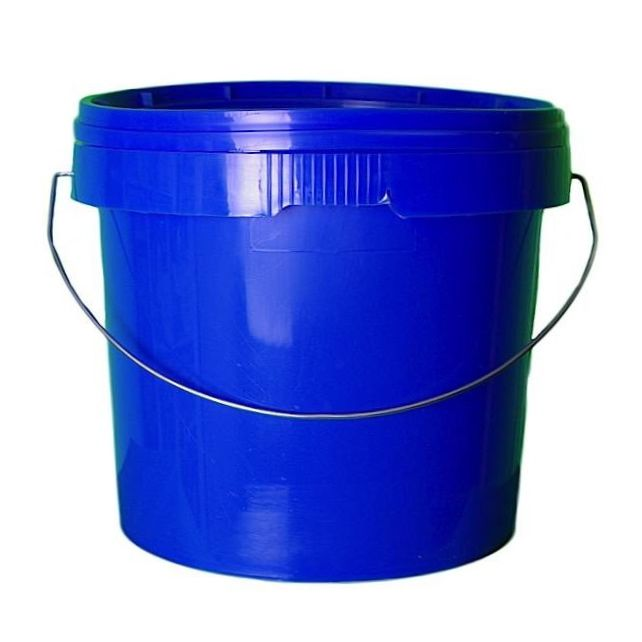 5L Blue Plastic Buckets With Lid