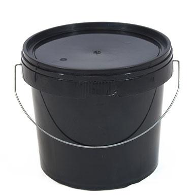 5L Black Plastic Buckets With Lid
