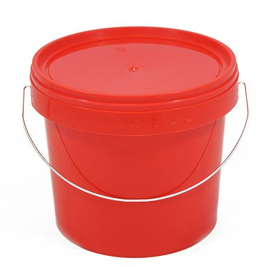 5L Red Plastic Buckets With Lid