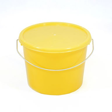 2.5L Yellow Plastic buckets With Lid