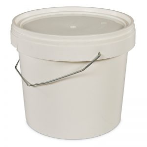 five litre white bucket