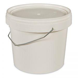 five litre white bucket