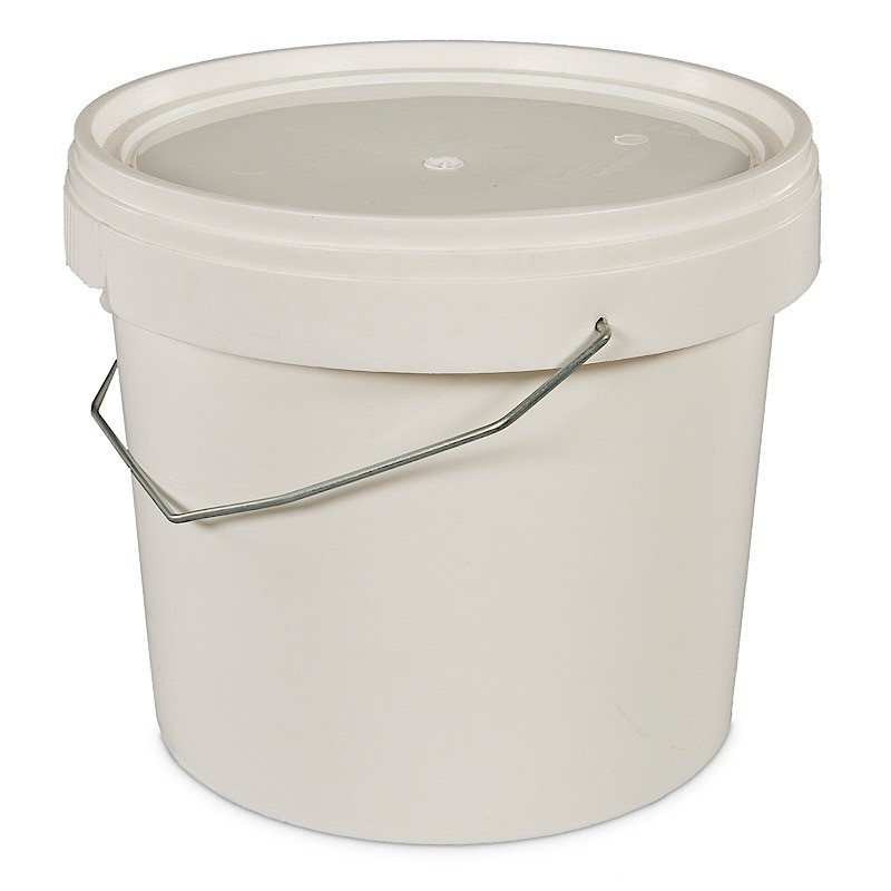 5 litre white plastic bucket with tamper evident lid 5f7d1e3fac4