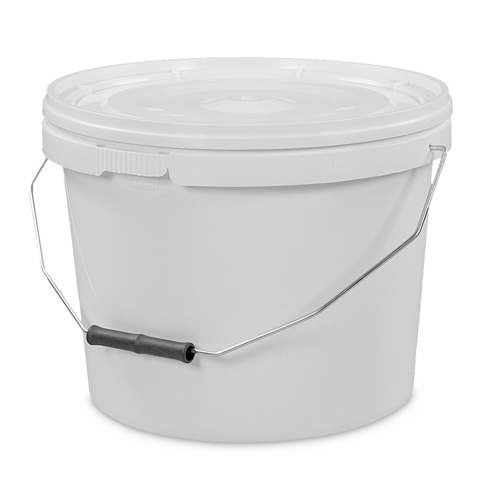 10L Tamper Evident White Plastic Buckets With Lid