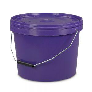 ten litre purple tamper evident bucket