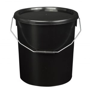 16 litre black bucket