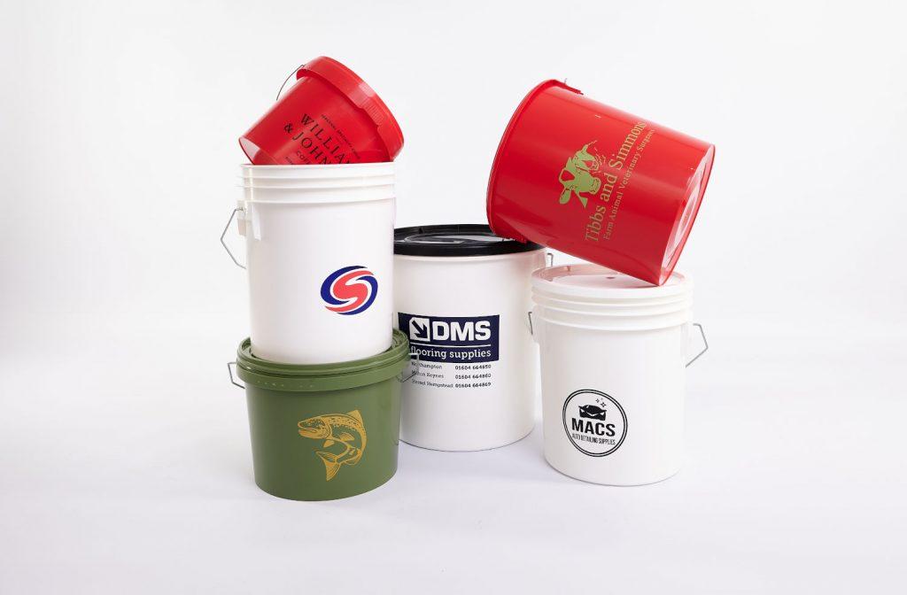 Custom Printed Logo Buckets