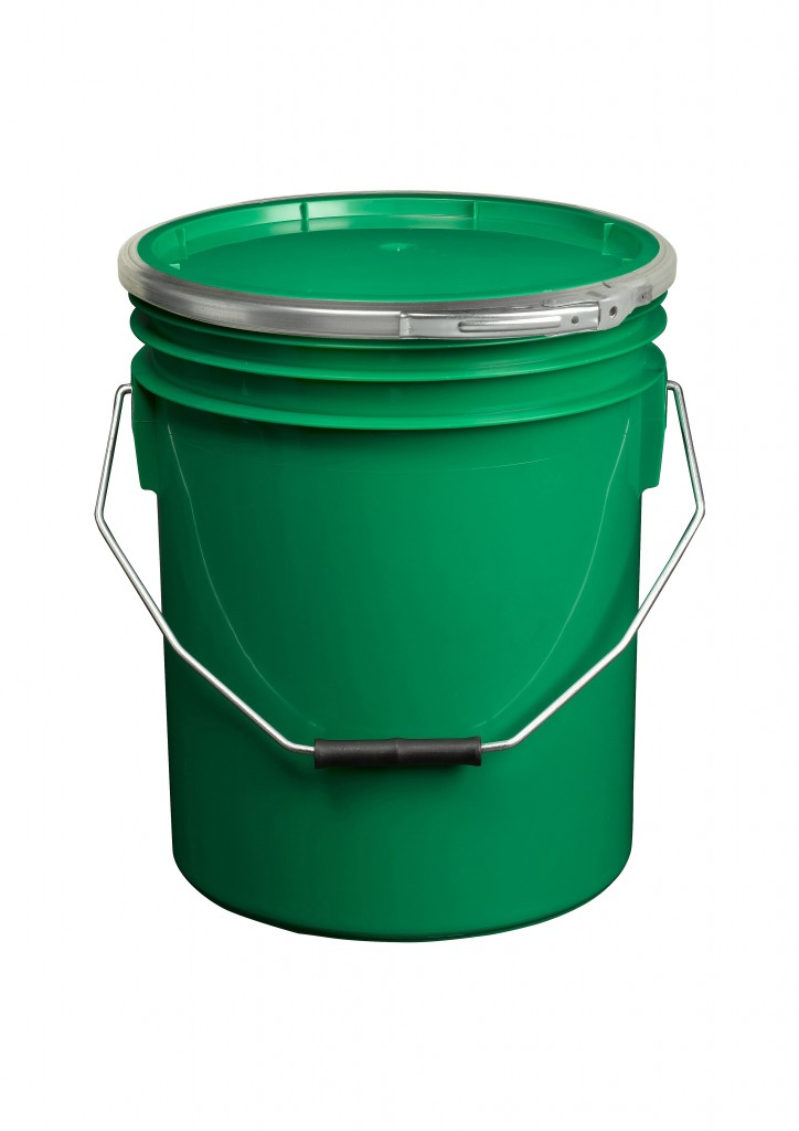 Green 16L Paint and Resin Pail (with metal fastener)
