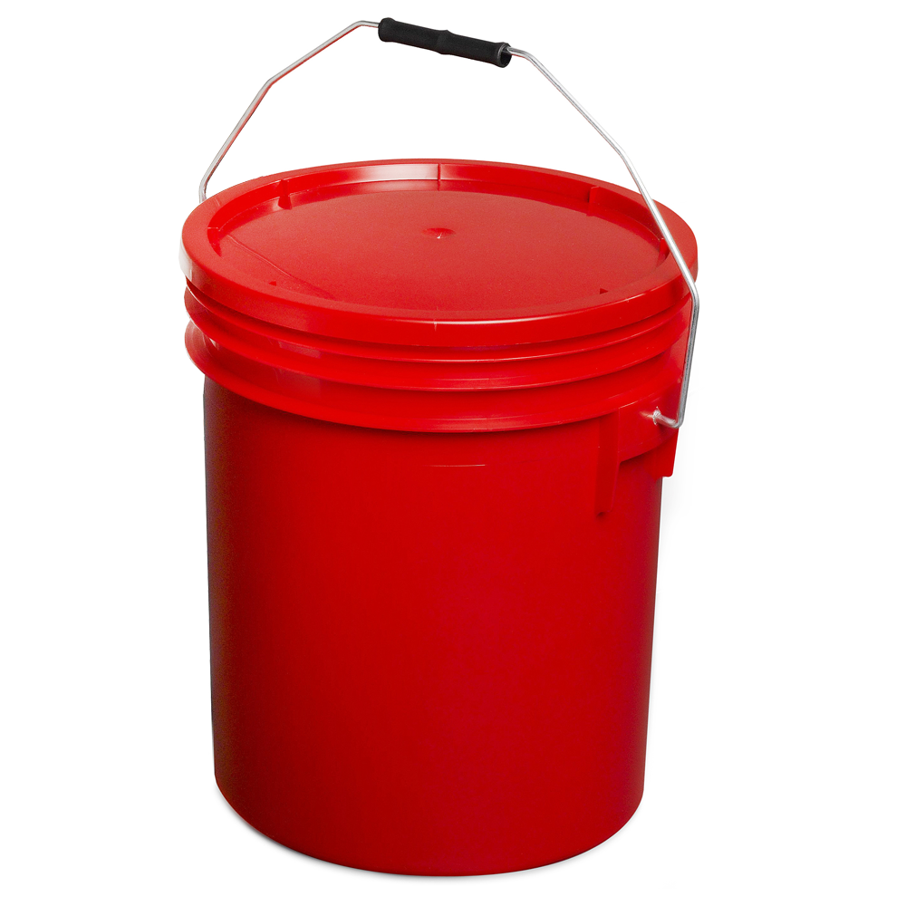 Red 16L Paint and Resin Pail