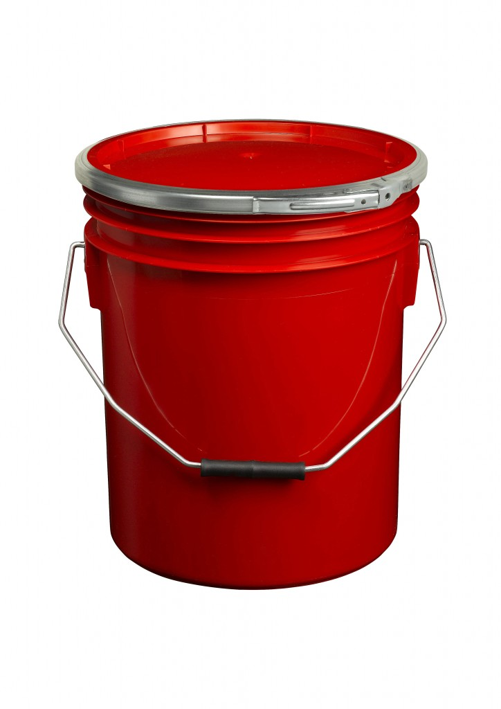 Red 16L Paint and Resin Pail (with metal fastener)