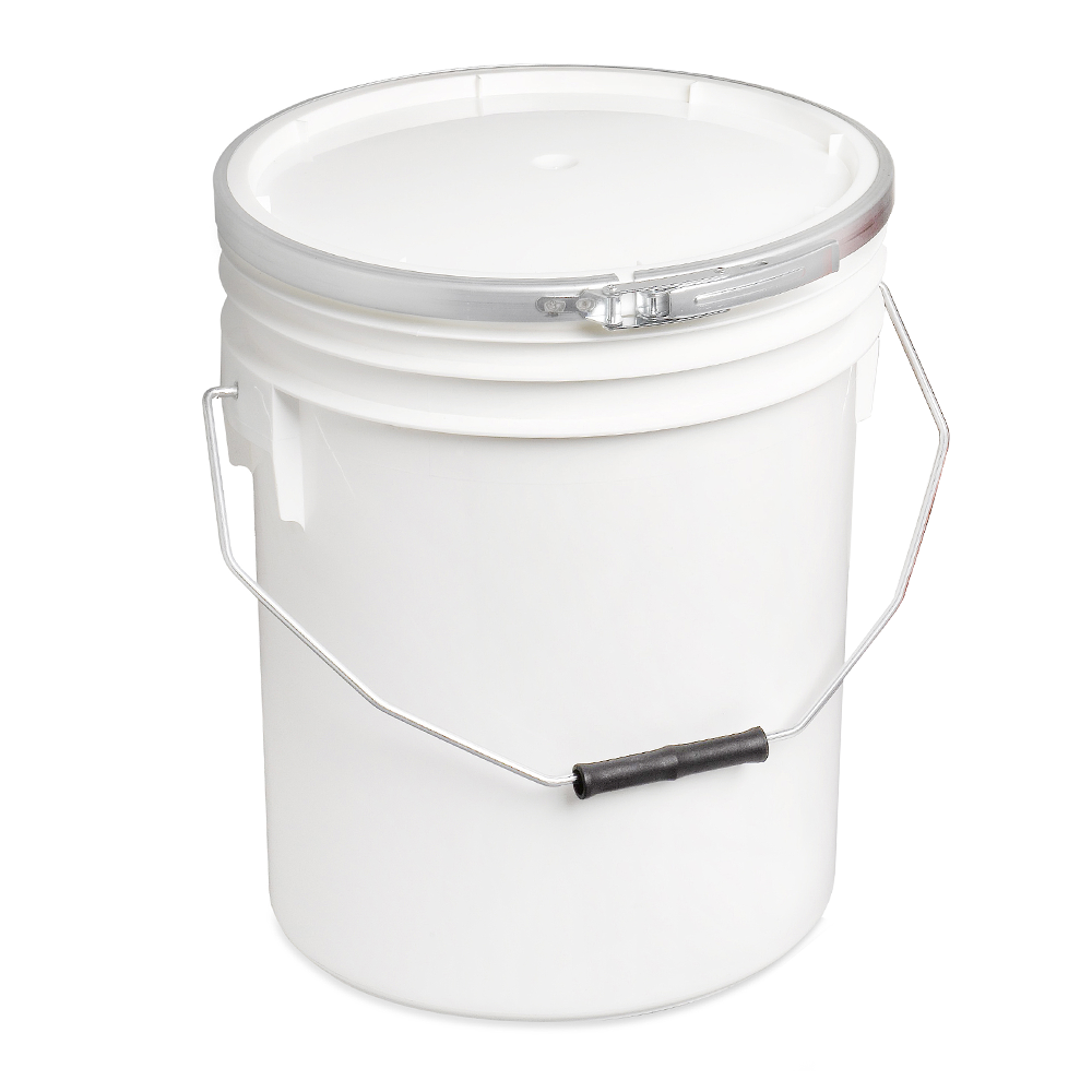 White 16L Paint and Resin Pail (with metal fastener)