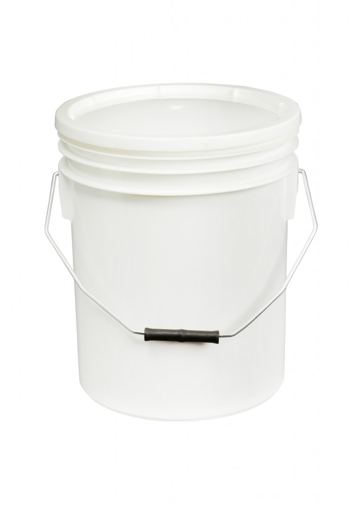 White 16L Paint and Resin Pail