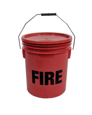 Plastic red fire bucket