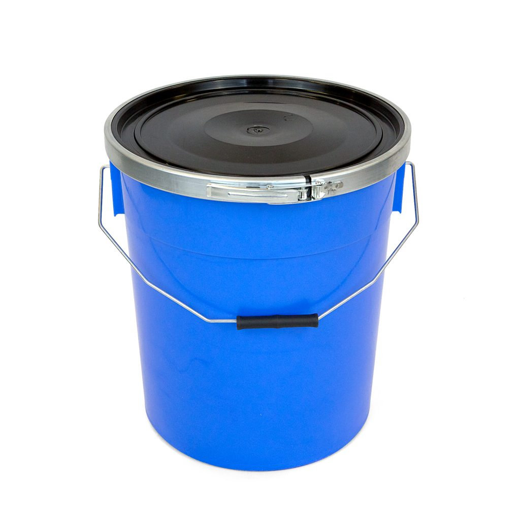 20 litre plastic container with fastening band