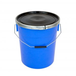 20l plastic container with metal fastening band