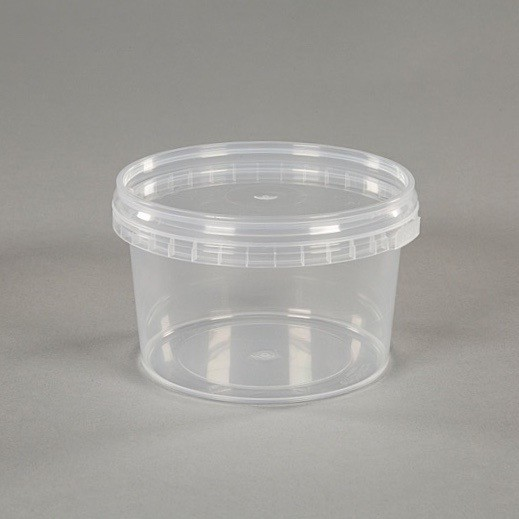 250ml Clear Plastic Food Grade Container With Lid